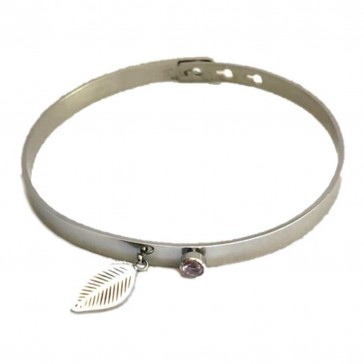 Silis The Bangle Charm So Silver & Feather
