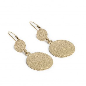 Silis Earring Gypsy Coin Gold Out