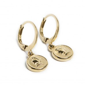 Silis Earring Mini Coin Gold Out