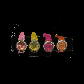Mooi dames horloge in felle kleuren