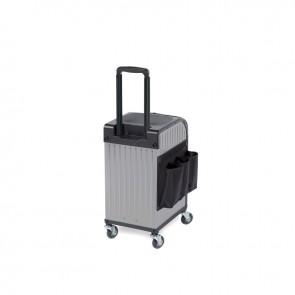 Sibel Rollercoaster Trolley - Koffer Titanium Zilver