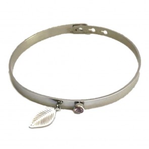 Silis The Bangle Charm So Silver & Feather