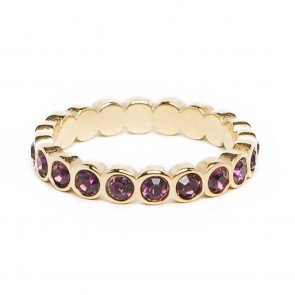 Silis The Ring Strass Gold & Purple Strass