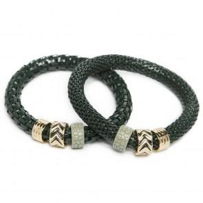 Silis The Snake Strass Frozen Green & Enamel