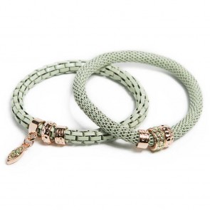 Silis The Snake Strass Mysterious Green & Oval Strass Cross