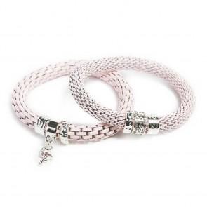 Silis The Snake Strass Pink Pepper & Flamingo Charm Bracelet