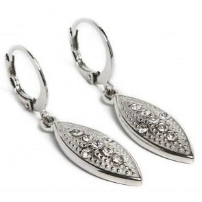 Silis Earring Oval Cross So Silver - Oorbellen