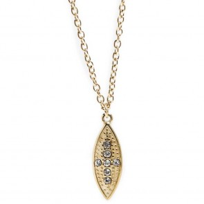 Silis Necklace Oval Cross Gold Out