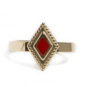 Silis Ring Square Gold Out