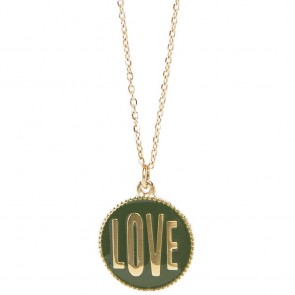 Silis The Necklace Love Color Gold Out & Green
