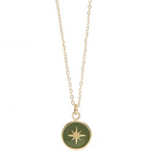 Silis The Necklace Star Color Gold Out & Green