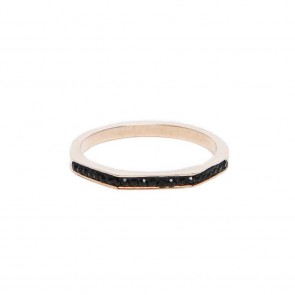 Silis The Ring Square Rosé & Black Strass