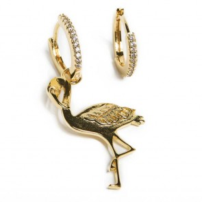 Silis Earring Flamingo Gold Out