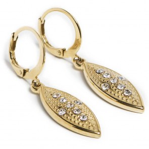 Silis Earring Oval Cross Gold Out