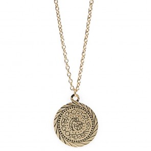 Silis Necklace Gypsy Coin Gold Out