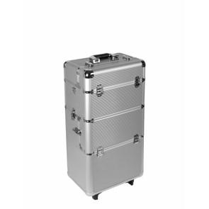Nagelstudio aluminium trolley Zilver