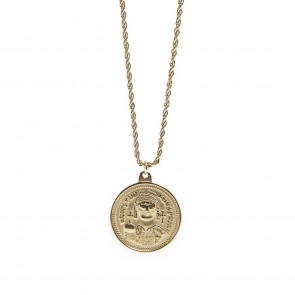 Silis Necklace Coin XL Gold Out