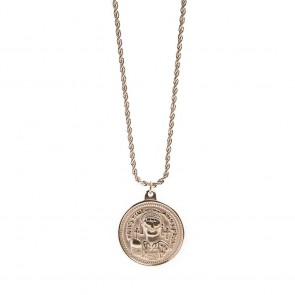 Silis Necklace Coin XL Rosé All Day