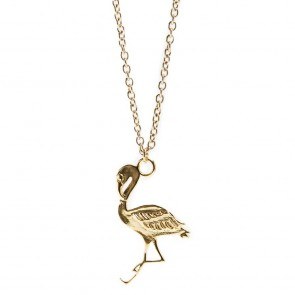 Silis Necklace Flamingo Gold Out