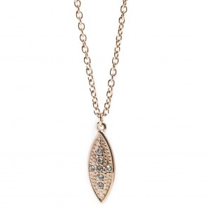 Silis Necklace Oval Cross Rosé All Day