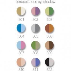 Terracotta duo oogschaduw