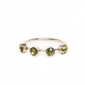 Silis The Ring Small Strass Green Strass