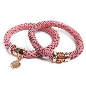 Silis The Snake Strass Apricot Candy & Charmed Coin Bracelet