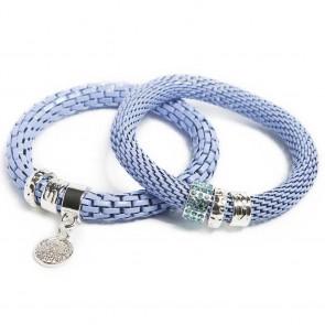 Silis The Snake Strass Blue Mist & Charmed Coin Bracelet
