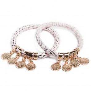 Silis The Snake Strass Pink Pepper & Shake Ur Coins Bracelet