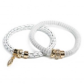 Silis The Snake White Magic & Oval Strass Cross