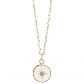 Silis The Necklace Star Color Gold Out & White
