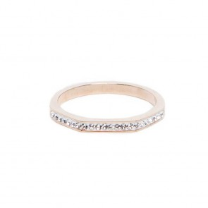 Silis the Ring Square Rosé & White Strass