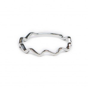 Silis The Ring Wave So Silver