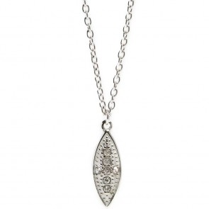Silis Necklace Oval Cross So Silver