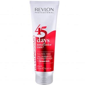 Revlon 45 Days 2 in 1 Shampoo, Brave Reds