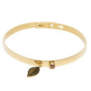 Silis The Bangle Charm Gold Out & Leaf