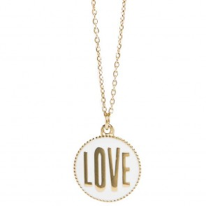 Silis The Necklace Love Color Gold Out & White