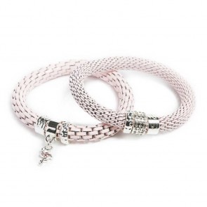 Silis The Snake Strass Pink Pepper & Flamingo Charm Bracelet
