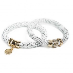 Silis The Snake Strass White Magic & Charmed Coin Bracelet