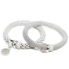 Silis The Snake Strass White Sand White Strass